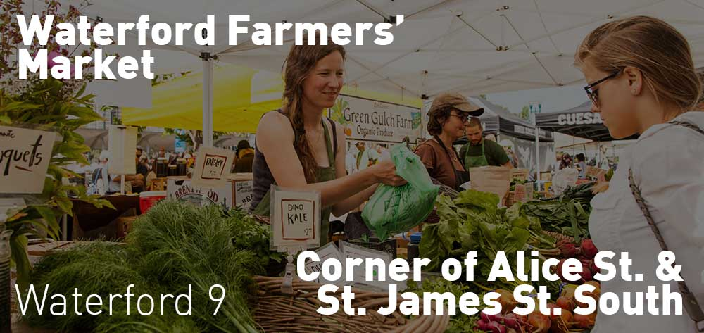 Waterford Farmers' Market, June 21 and every other Wednesday at 4 pm